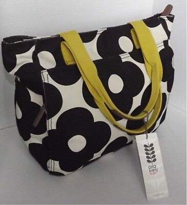 a6b9a0a16593 Orla Kiely for Target Yoga Bag Tote Black Floral Cream Gym New with tags