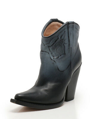 1be88000e3f Maison Martin Margiela ROSE EMBOSSED BOOTS boots leather black blue gray