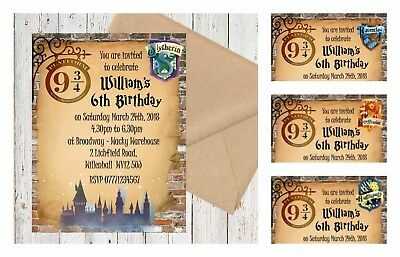 4 Extra Large Hogwarts Express Harry Potter Personalised Trainticket