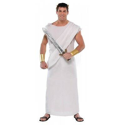 toga costume adult greek roman goddess god halloween fancy dress