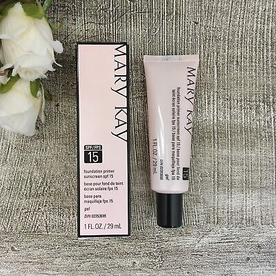 Mary Kay Foundation PRIMER Sunscreen SPF 15 EXP 1/2021 Brand New ~ Fast Shipping