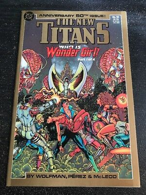 The New Titans#50 Incredible Condition 9.2(1988) George Perez Art!!
