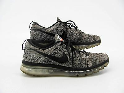 best website a9995 cc978 NIKE FLYKNIT MAX 620469 105 Men Oreo Running Shoe Sneaker 11.5M Pre Ownd YI