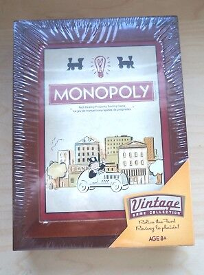 New Monopoly Parker Brothers Vintage Game Collection Wooden Box Bookshelf Board