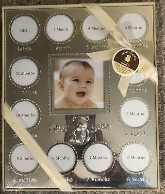 Carters  Frame Silvertone Baby Picture Frame - Holds 13 pictures  NEW