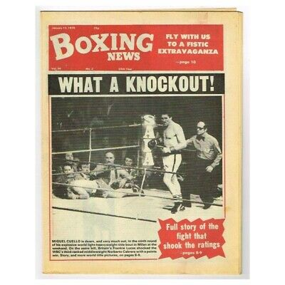 Boxing News Magazine January 13 1978 MBox3429/F Vol.34 No.2 What a knockout!
