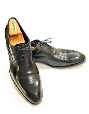 check out a31c1 88393 FRATELLI ROSSETTI MEN'S Derby Black Leather Shoes 10.5 10 1/2 EUC