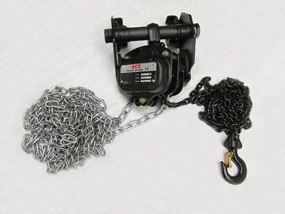 0.5T 6M Combination Chain Hoist Block And Push Trolley - 500KG Overhead Beam