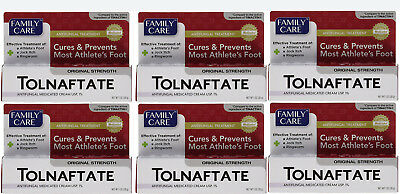6P Family Care Tolnaftate Antifungal Cream 1% Compare to Tinactin- 1 fl.oz