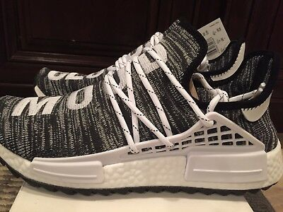 a7944e3ec9650 ADIDAS NMD HUMAN Race HU X Pharrell William Trail Black Oreo Size 11 ...