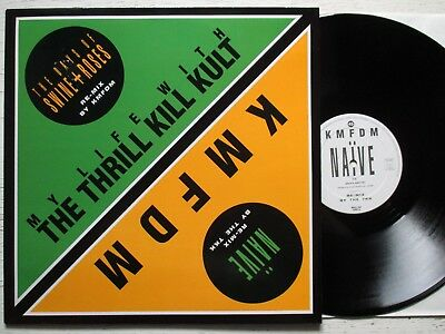 "KMFDM / THRILL KILL KULT: Naive/The Days Of Swine+Roses 12"" - BEL 1991 WAX TRAX"