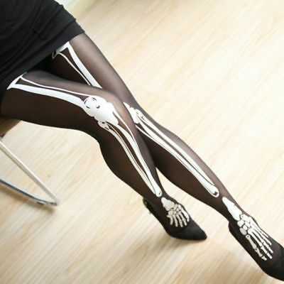 Bones Pantyhose Skull Print Tights Tattoo Stockings Skeleton Tights Pantyhose