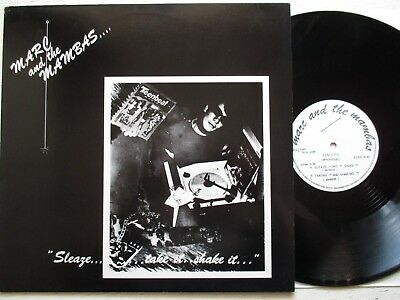 """MARC AND THE MAMBAS: Fun City / Sleaze – 12""""-EP - UK 1982 minimal synth/new wave"""