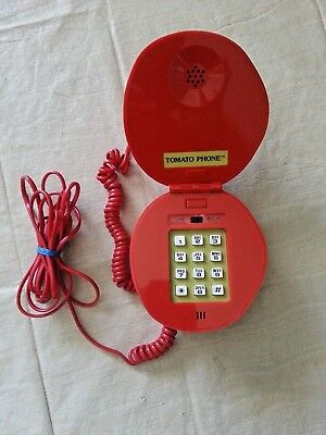 Vintage Novelty Gold Medal Ruby Red Tomato Phone Rare Exc. Pre-Owned Condition