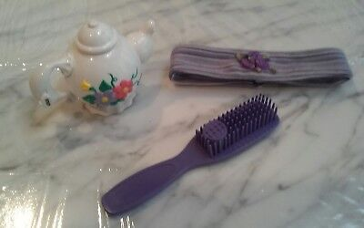 "Amazing Ally 18"" Interactive Doll Purple Head Band, Tea Pot & Brush Accessories"