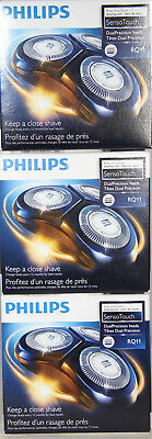 3x Philips RQ11/53 Sensotouch Shaving Head 1 Rotary Head System TAX INCLUDED