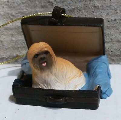 Victorian Trading Co Travel Companion Lhasa Apso Brown Ornament Free Ship 24D