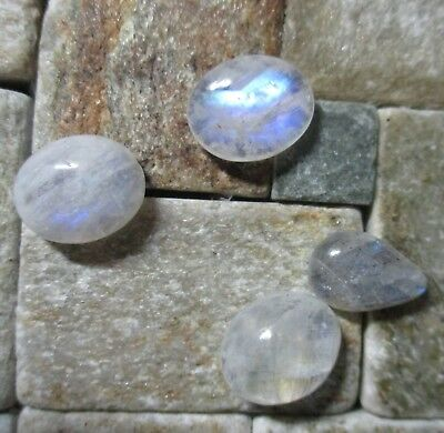 MOONSTONE FELDSPAR x 4 NATURAL MINED UNTREATED SPECIMENS TOTAL 16.80Ct  MF371