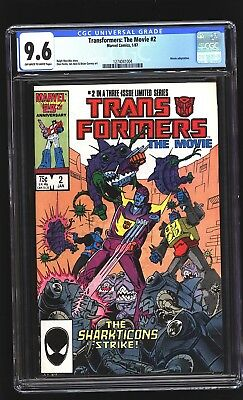 Transformers The Movie 2 CGC 9.6 NM+  Sharkticons Marvel 1987