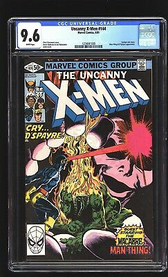Uncany X-Men 144 CGC 9.6 NM+ Cyclops Man-Thing Brent Anderson cover Marvel 1981