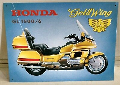 HONDA Gold Wing GL 1500/6 Motorcycle OLD Vintage metal Sign ©1997 LAST ONE!!