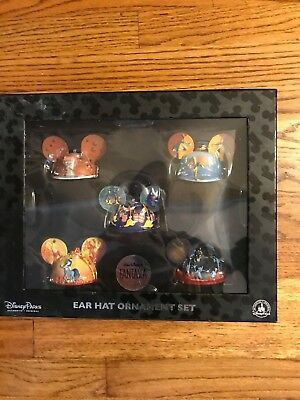 Disney Parks Authentic Fantasia Ear Hat Ornament Limited Edition Set of 5 New