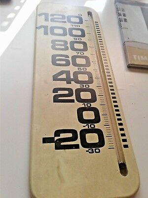 Vintage -  Thermometer - Wood - Wall Mounted (rare)