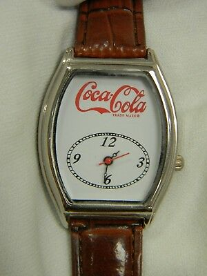 Vintage Style Coca Cola Quartz Watch by MZ Berger, White w/Red Letters, NIB!!