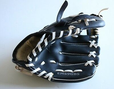 "Easton Youth 9"" Baseball Glove Mitt Fielding Glove Black Leather EMS9GBS"