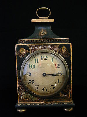 Genuine Antique 19th Century Chinese Motif Tiffany & Co Mantel Clock Works Great