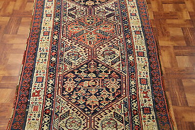 Outstanding Long & Narrow 19th Century Sarab Runner Great Colors