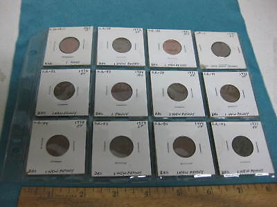 Vintage set of Twelve Coins from Great Britain