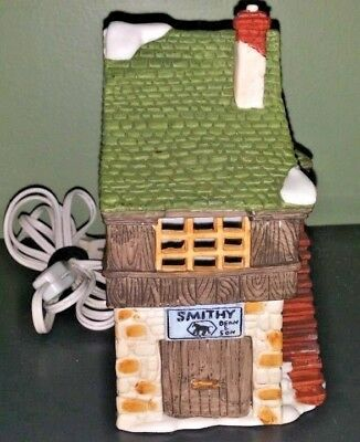 Dickens Village Smithy Shop Department 56 Collection Very Good Condition