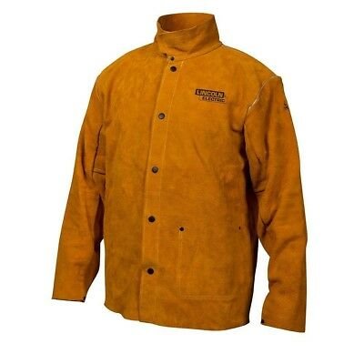 Lincoln Electric Heavy Duty Large Leather Welding Jacket Workwear Apparel Tools