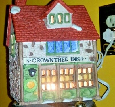 Dickens  Village Crowntree Inn Department 56 Collection Very Good Working Cond.