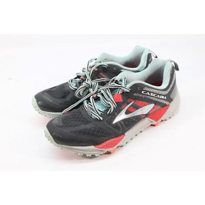 a617ff4d287f8 Brooks Cascadia 11 Women s Anthracite Hibiscus Blue Running Shoe 7M