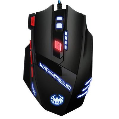 9200DPI Gaming Maus, USB Kabel Gaming Maus mit 8 Tasten, LED,und USB-Wired