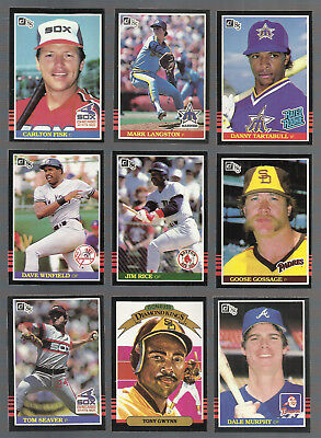 Awesome Lot Of 500 1985 Donruss Baseball Cards With Stars And Hall Of Famers A