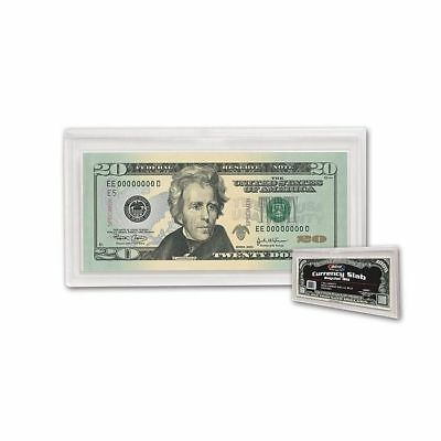 (25) BCW Deluxe Currency Slab - Regular Bill -  2 11/16 X 6 1/4