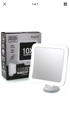 Fancii 10X Magnifying Lighted Makeup Mirror, Cordless Daylight LED Travel Vanity