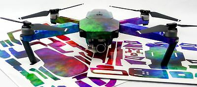 Rainbow Clouds Drone Decal Skin Wrap Stickers DJI Spark, Mavic Air, Mavic Pro