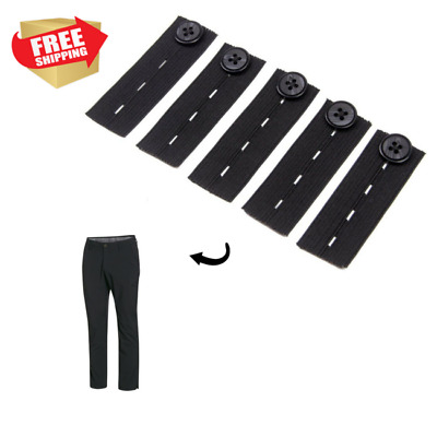 Elastic Waist Extenders Pants Maternity Waistband Adjustable Easy Fit Buttons