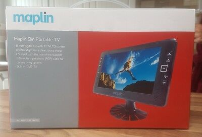 Maplin Portable 9 Inch 16:9 TFT -LCD DVBT2 Digital  TV.