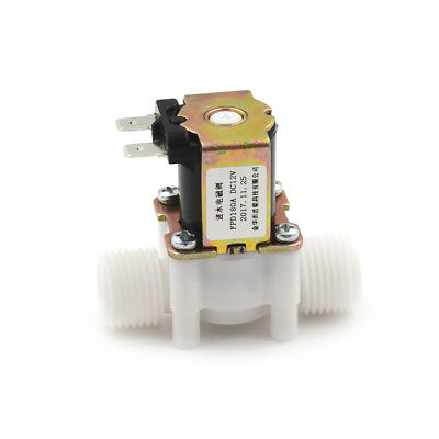 """1/2"""" N/C Electric Solenoid Valve 12V  Magnetic Water Air Normally Closed  pO"""