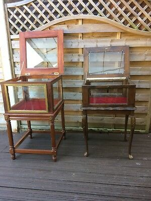 Two Collectors Cabinets For Sale Recycled Reproduction