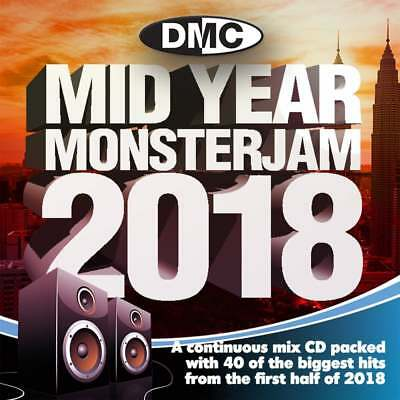 DMC Mid Year Monsterjam 2018 Continuous Megamix DJ CD First Half Year Chart Mix