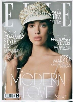 Elle Magazine Travel Size Issue June 2018 ~ Dua Lipa Cover & Interview ~