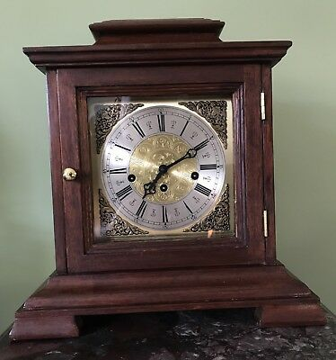 Large Working Hermle Clock Westminster Chime Mantle Bracket Silent Lever
