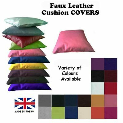 Scatter Cushion FAUX LEATHER Leatherette Pillow Seat Sofa Couch Bench Furniture