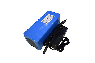 Pacco Batteria + Charger 2A, litio 36V 10,4 Ah 385Wh 10S4P con BSM 35A. ebike